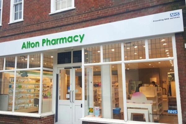 Exterior of Alton Pharmacy